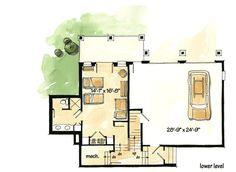 European Cottage - 11551KN | Architectural Designs - House Plans Cottage Floor Plans, Cottage Plan, Cozy Cottage, Small Luxury Homes, Small Homes, Sims 4 House Plans, French Country House, Country Homes, Big Bedrooms