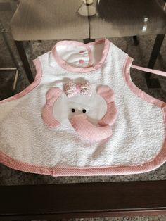 Babeiro elefante - menina #patchwork