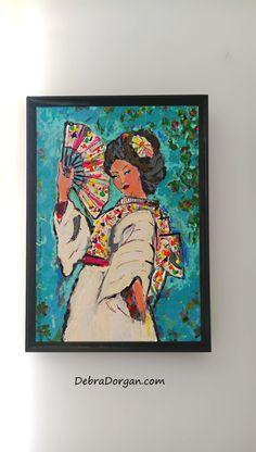 Geisha Lady Original Painting Joy Bohemian Art by AllThingsPretty
