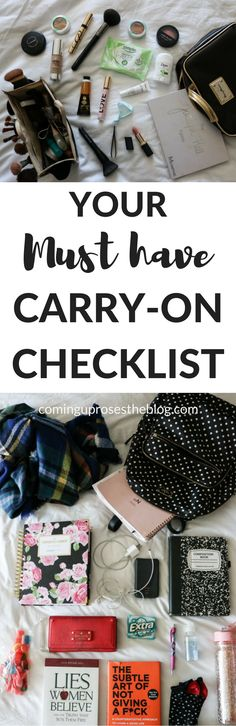carry on checklist, carry on, carry on bag, carry on packing, carry on bag essentials, what to pack in a carry on, carry on checklist long flights