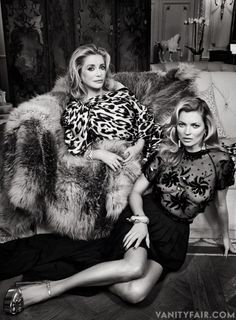 When Kate Moss met Catherine Deneuve