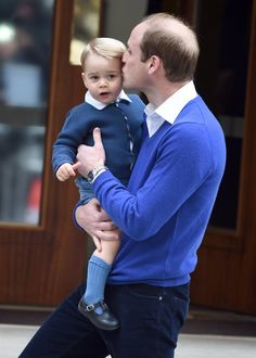 Cute Prince George and Prince William Pictures | POPSUGAR Celebrity