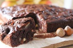 Bajkorada: Ciasto czekoladowe z jabłkami i orzechami