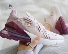 Swarovski Bling Nike Air Max 270 Shoes in Rose Gold Swarovski Crystals, Free Domestic Shipping Source by etsy de mujer nike Cute Nike Shoes, Cute Nikes, Nike Air Shoes, Cute Sneakers, Nike Air Max, Shoes Sneakers, Gold Nike Shoes, Cheap Cute Shoes, Nike Tennis Shoes