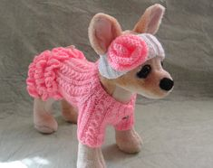 Pet+Clothes+Spring+Outfit++Dog+Dress+and+Headband++for+by+2CROWNS,+$35.00