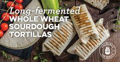 Long-Fermented Whole Wheat Sourdough Tortillas Recipe - Cultures for Health Sourdough Tortillas Recipe, Sourdough Recipes, Sourdough Bread, Bread Recipes, Vegan Recipes, Whole Wheat Sourdough, Whole Food Recipes, Cooking Recipes, Whole Grain Flour