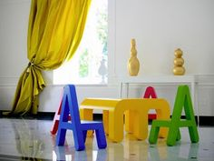 Children letter furniture