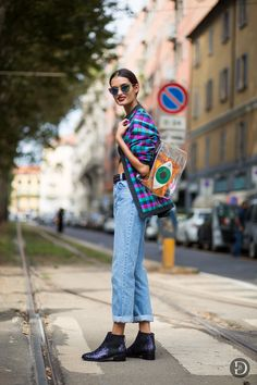cool bomber. #GizeleOliveira #offduty in Milan.