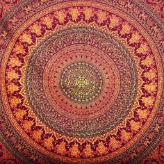 This tapestry is a creation of eastern motifs infused with modern concepts. These wonderful prints are a great way to add color to your bed, ceiling,
