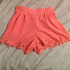 Light Pink High-Waisted Sheer Shorts Adorable shorts perfect for the summer! Very light weight material, has elastic in the back to stretch and pockets! Charlotte Russe Shorts