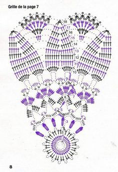 Вязаные салфетки и мелочи для дома Crochet Doily Diagram, Freeform Crochet, Crochet Stitches Patterns, Crochet Chart, Love Crochet, Filet Crochet, Crochet Motif, Crochet Flowers, Crochet Lace