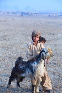 Young Baloch Goatherds, Pakistan. The Baloch live mainly in the Balochistan region of the Iranian plateau in Iran, Pakistan and Afghanistan. They are an Iranian people who mainly speak the Balochi language, a branch of Northwestern Iranian languages. (V)