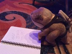 Ollie the Guar getting ready for the ESO QuakeCon Q&A.