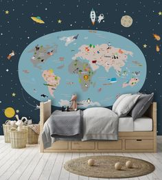 #rainbow #entryway #removablewallpaper #bedroomwallpaper #livingroom #backgroundwallpaper #artwallpaper #kidswallpaper #childrenwallpapper Kids Wallpaper, Wallpaper Backgrounds, Gold Yellow Wallpaper, Peel And Stick Vinyl, Grey And Gold, Home Decor Wall Art, Spacecraft, Scandinavian Design, Wall Stickers