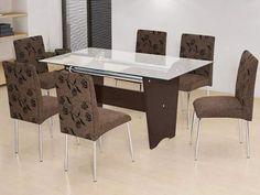 Conjunto de Mesa com 6 Cadeiras Somopar - Munique com as melhores condições você encontra no Magazine Sharamanaya. Confira!