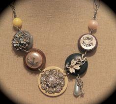 vintage baubles necklace