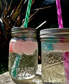 These are so festive. Love the reusable ice cubes used in this clear beverage. $36.