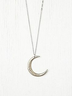 Free People Clothing Boutique > Moon Necklace