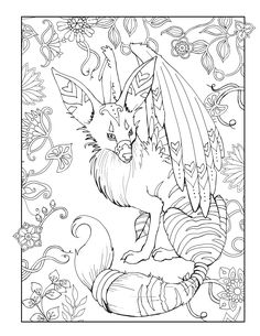 Magical Kingdom Coloring Book Beautiful And Mythical Animals