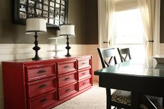 I don't like this dresser, but I like the idea of using a dresser as buffet in the dining room.