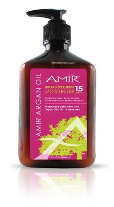 A great spf 15 lotion with argan oil!