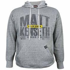 Chase Authentics Matt Kenseth Primary Pullover Hoodie - Ash