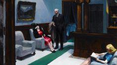 Edward Hopper Hotel Lobby 1943 Aschan School Museum Grade Canvas Print | eBay