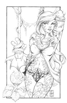Arkham City Poison Ivy pencils... Harley still to come... I'm torn between Arkham City costume and Arkham Knight... Inks by LahmiaRaven: Colours by J-Skipper: