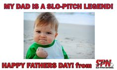 Happy Fathers Day to your Slo-Pitch Legend. Give it a FIST PUMP Have a GREAT Slo-Pitch Weekend!! Softball, Baseball, Fist Pump, Happy Fathers Day, My Dad, Pitch, Dads, Fun, Fastpitch Softball