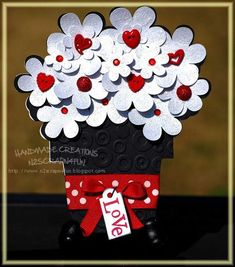 Love - flower pot shaped card