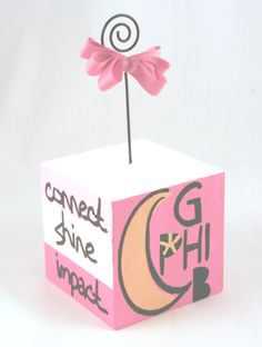 Gamma Phi Beta  photo cube or note holder -love this idea!