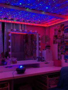 Neon Bedroom, Cute Bedroom Decor, Room Design Bedroom, Teen Room Decor, Room Ideas Bedroom, Rooms Home Decor, New Swedish Design, Pinterest Room Decor, Retro Room