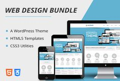 What this deal brings you:  10 #HTML5 #Templates for a variety of websites 13 #CSS3 #Utilities like 3D Bar and Pie charts, Scroll effects etc A coming soon #WordPress #theme