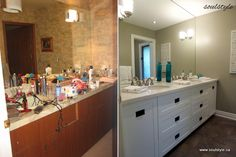 Dramatic Bathroom Makeover