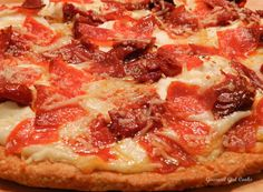 Gourmet Girl Cooks: White Pizza -- Topped w/ Oven Dried Tomatoes & Pepperoni