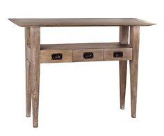 Consola con 3 cajones de madera de mindi - natural