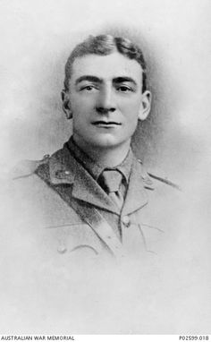 Studio portrait of Lieutenant (Lt) David Knight, 33rd Battalion, of Lakemba, NSW. Lt Knight enlisted on 1 February 1916 and died of wounds in France on 8 May 1918. This portrait is one of a number displayed on a photo montage Honour Board made for the department store Anthony Hordern and Sons Ltd, Sydney by the returned soldier and sailor employees of the company. Courtesy AWM.