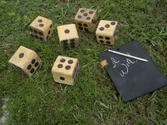 Outdoor Lawn Games To Lure You Outside This Summer: Giant Dice --> www.hgtvgardens.com/photos/outdoor-lawn-games?s=1=pinterest