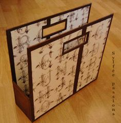 cardboard magazine rack single tutorial
