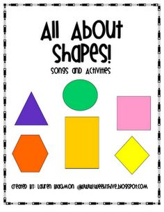Free!!! All About Shapes!!! 10 page unit