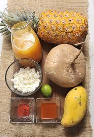 Gazpacho Moreliano Ingredientes perfectos para dis-Frutar estas vacaciones¡¡¡ #pinia #jugodenaranja #queso #jicama #chamoy #mango
