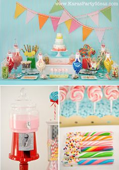 Sweet Shoppe Candy themed birthday party via Karas Party Ideas karaspartyideas.com #sweet #shoppe #candy #party #dessert #table #birthday #party #ideas #supplies