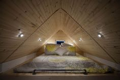 another tiny house bungalow loft sleeping space Attic Bedroom Small, Attic Loft, Loft Room, Attic Spaces, Attic Rooms, Bedroom Loft, Small Spaces, Attic Bathroom, Tiny Loft