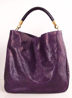 YVES SAINT LAURENT (YSL) SHOULDER BAG Eggplant Shoulder Bag.