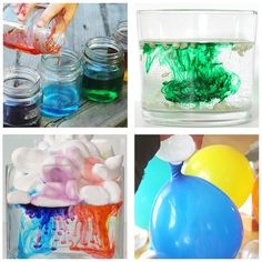 Science experiments and activities for toddlers and preschoolers.