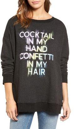 Women's Wildfox Cocktail In My Hand Sweatshirt