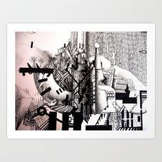 """phantasmagoria"" Art Print by Rachna Radar - $15.00"