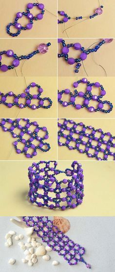 Like the purple beads bangle?The tutorial will be published by LC.Pandahall.com