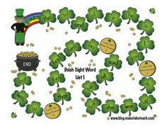 St. Patrick's Day Sight Word Game Boards -  Pinned by @PediaStaff – Please Visit http://ht.ly/63sNt for all our pediatric therapy pins