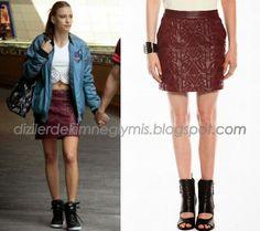 Turkish Fashion, Turkish Actors, Fashion Outfits, Womens Fashion, Lace Skirt, Prada, Winter Fashion, Topshop, Actresses